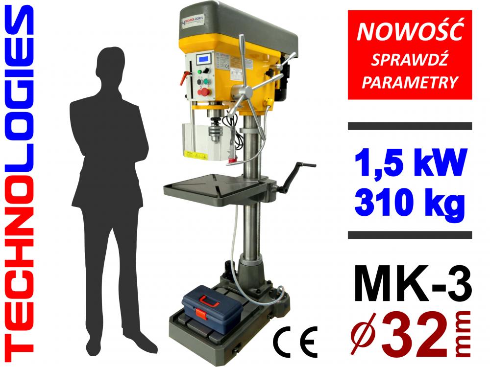MAȘINĂ DE ALEZAT ȘI GĂURIT MAȘINĂ DE GĂURIT ȘI ALEZAT 32mm / MK-3 - TENSIUNE: 400V