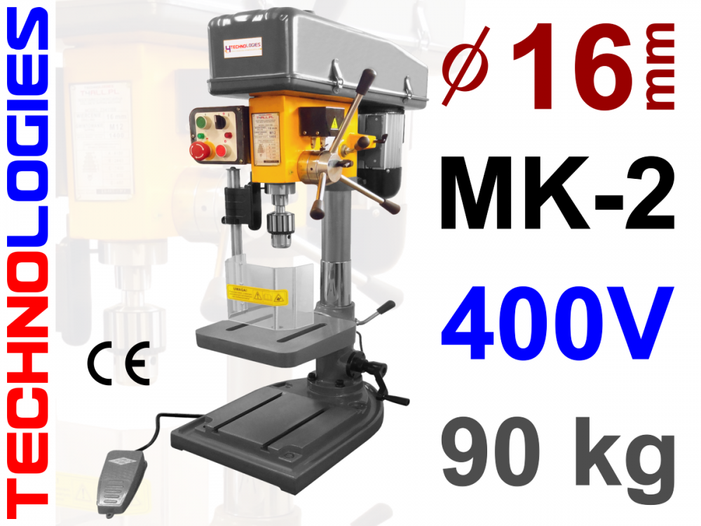 GWINCIARKO WIERTARKA WIERTARKO GWINCIARKA - MK2 - 16MM - (SŁUPOWA / KOLUMNOWA) - 400V