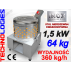 ELEKTRYCZNA BĘBNOWA SKUBARKA (SKUBACZKA) MASZYNA DO SKUBANIA DROBIU PIERZA / N55 / 360 KG/H - 230V