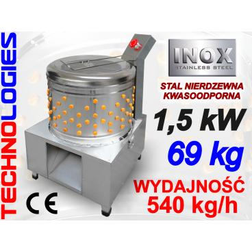 ELEKTRYCZNA BĘBNOWA SKUBARKA (SKUBACZKA) MASZYNA DO SKUBANIA DROBIU PIERZA / N60 / 540 KG/H - 400V