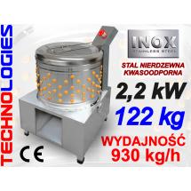 ELEKTRYCZNA BĘBNOWA SKUBARKA (SKUBACZKA) MASZYNA DO SKUBANIA DROBIU PIERZA / N80 / 930 KG/H - 400V