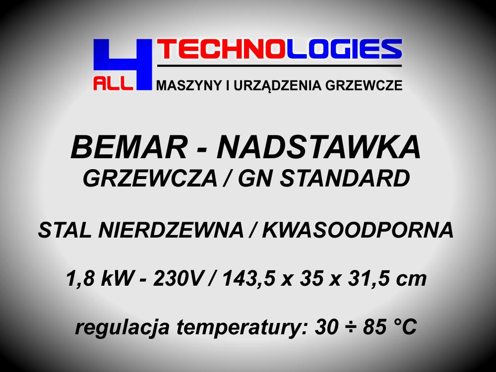 BEMAR PODGRZEWANY BUFET GRZEWCZY 140CM 1,8 kW 5 x GN 1/2