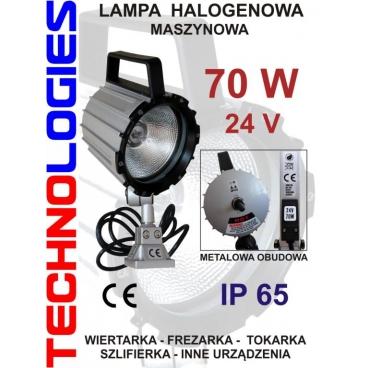 LAMPA MASZYNOWA KWARCOWA / HALOGENOWA -  70W - 24V