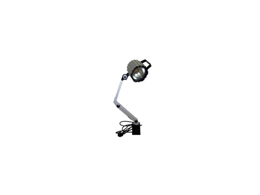 LAMPA MASZYNOWA KWARCOWA / HALOGENOWA -  55W - 230V  DŁUGOŚĆ RAMIENIA 20 CM