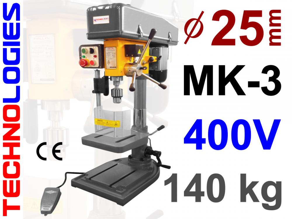MAȘINĂ DE ALEZAT ȘI GĂURIT MAȘINĂ DE GĂURIT ȘI ALEZAT - MK3 - 25MM - (VERTICALĂ / COLOANĂ) - 400V