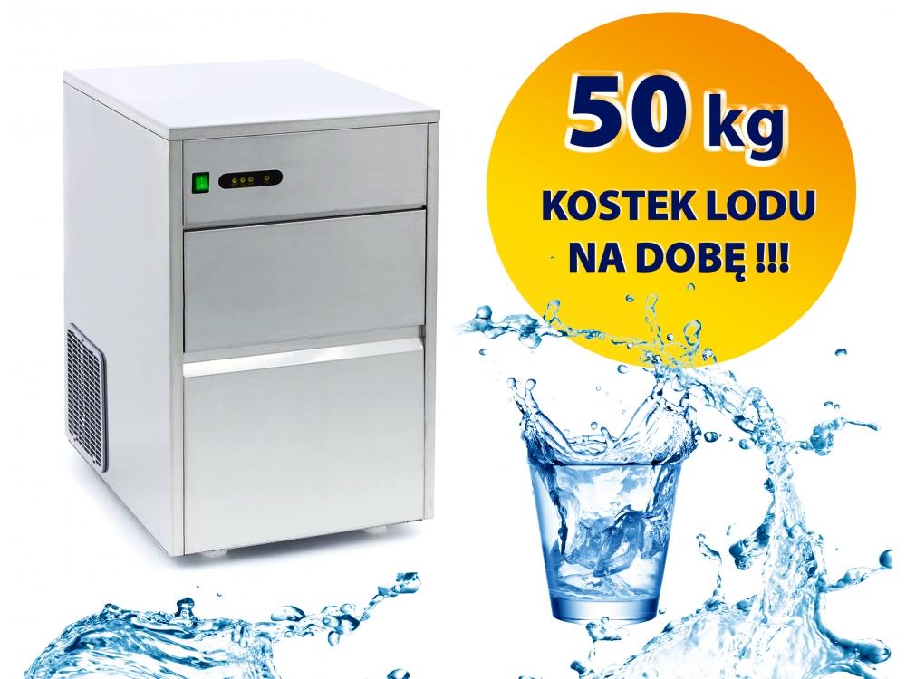KOSTKARKA WYTWORNICA DO LODU 50 KG NA DOBĘ / STAL NIERDZEWNA - INOX