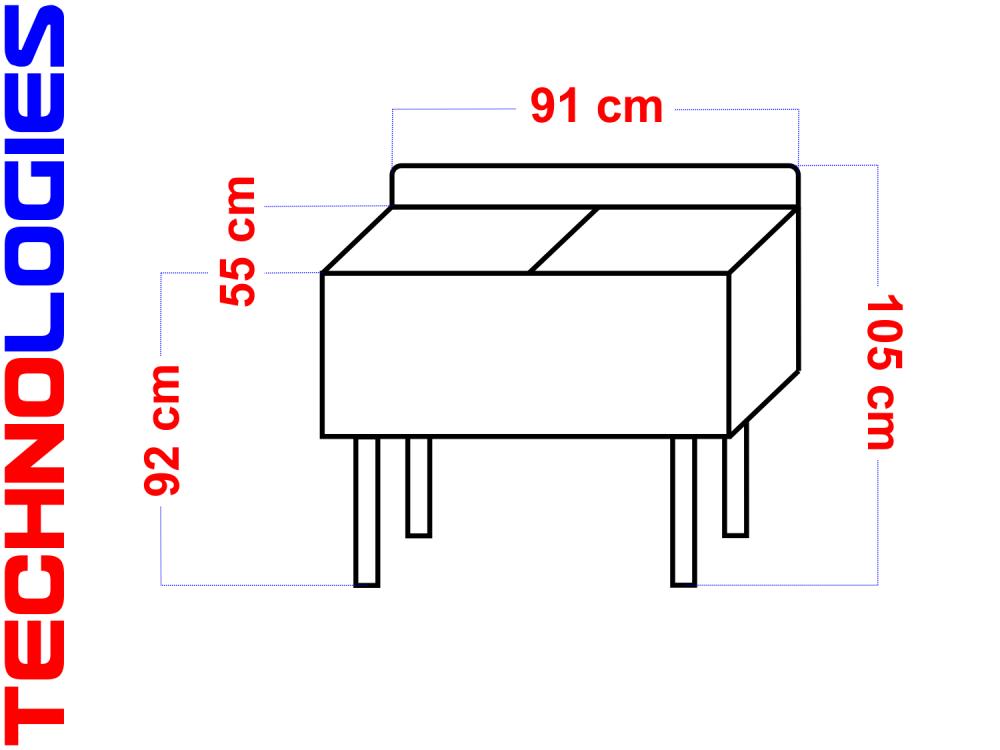 ZLEW ZLEWOZMYWAK BASEN UMYWALKA GASTRONOMICZNA 90cm 135L (2-KOMORY) ZE STALI NIERDZEWNEJ KWASOODPORNEJ INOX