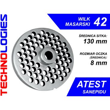 SITKO DO WILKA 42 - ŚREDNICA SITA: 130mm / ROZMIAR OCZEK (ŚREDNICA): 4mm