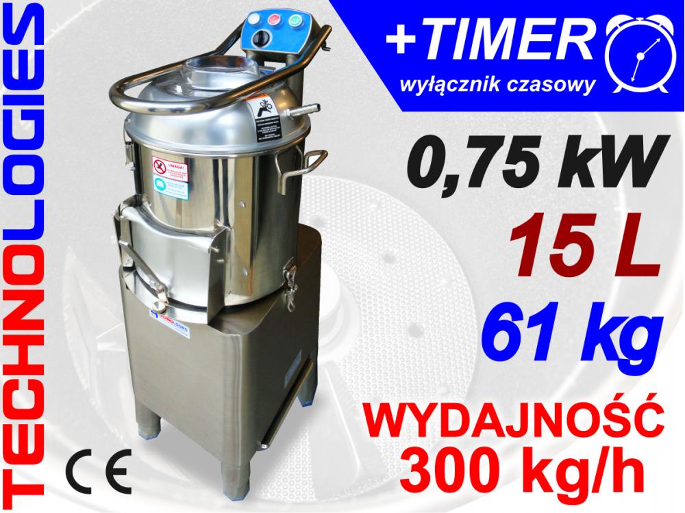 OBIERACZKA ZIEMNIAKÓW WARZYW 15L 300kg/h 230V