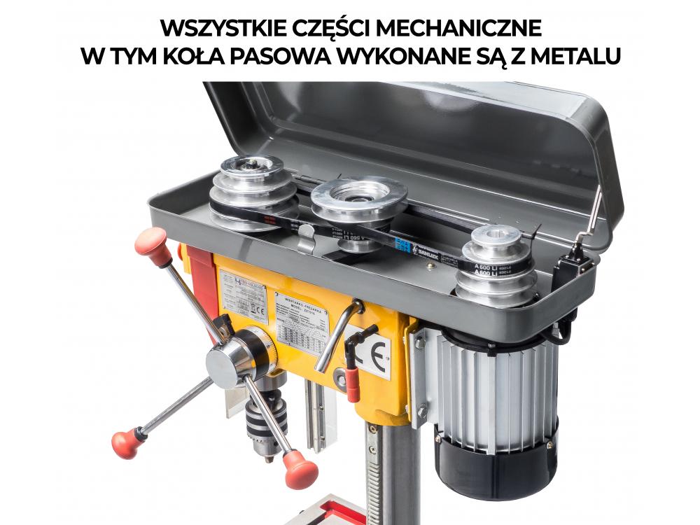 MAȘINA DE FREZAT ȘI GĂURIT DE MASĂ COLOANĂ d 16mm / 12 TREPTE DE VITEZĂ - 400V