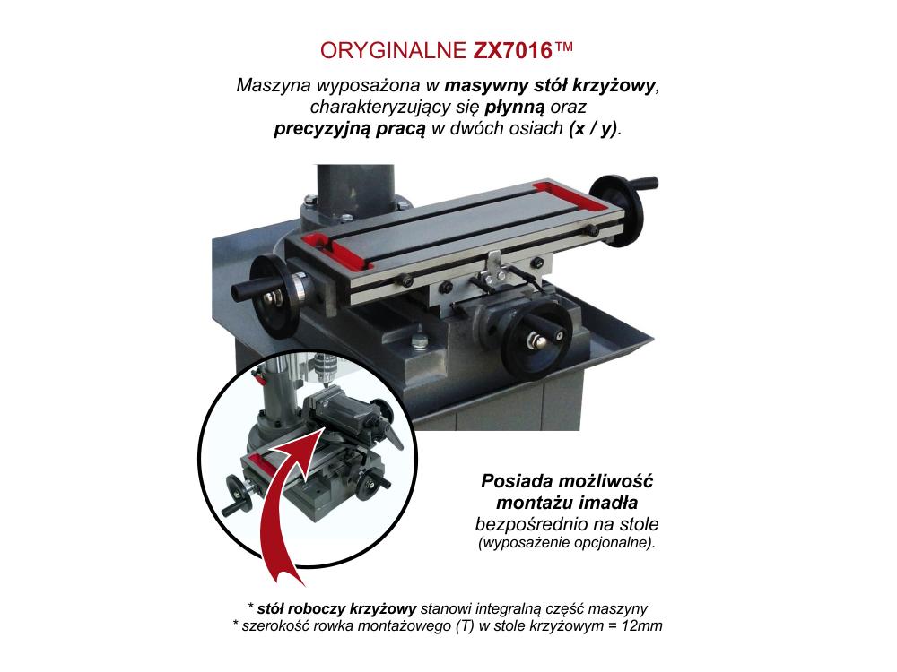 FREZARKO WIERTARKA KOLUMNOWA STOŁOWA fi-16 mm / 12 BIEGÓW - 230V
