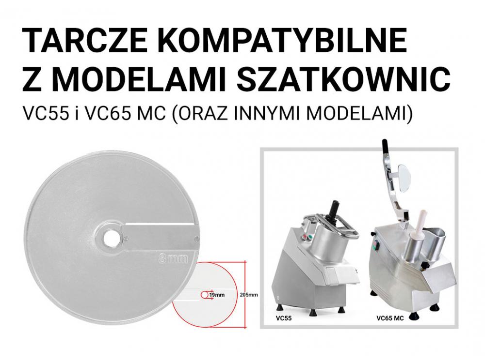 TARCZA DO SZATKOWNICY TNĄCEJ / SZATKUJĄCEJ 8 mm