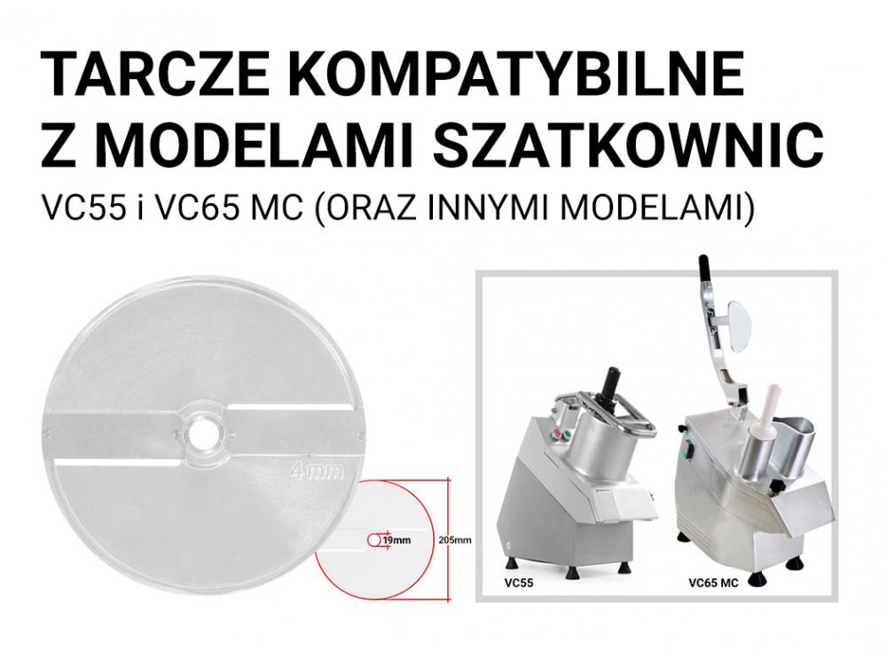 TARCZA DO SZATKOWNICY TNĄCEJ / SZATKUJĄCEJ 4 mm