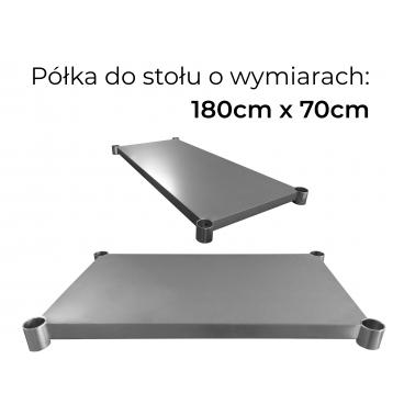 Półka do stołu roboczego o wymiarach 180cm x 70cm