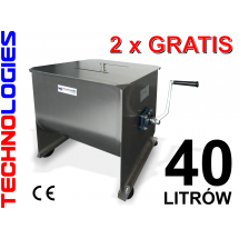 FILLING MEAT MIXER 40 LITERS - S/S ALSO ELECTRICAL USE!